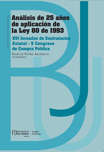Carátula Libro Análisis de 25 años de aplicación de la Ley 80 de 1993