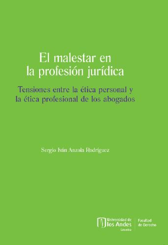 Portada El malestar en la profesión jurídica