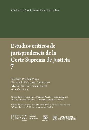 Portada Estudios críticos de jurisprudencia de la Corte Suprema de Justicia