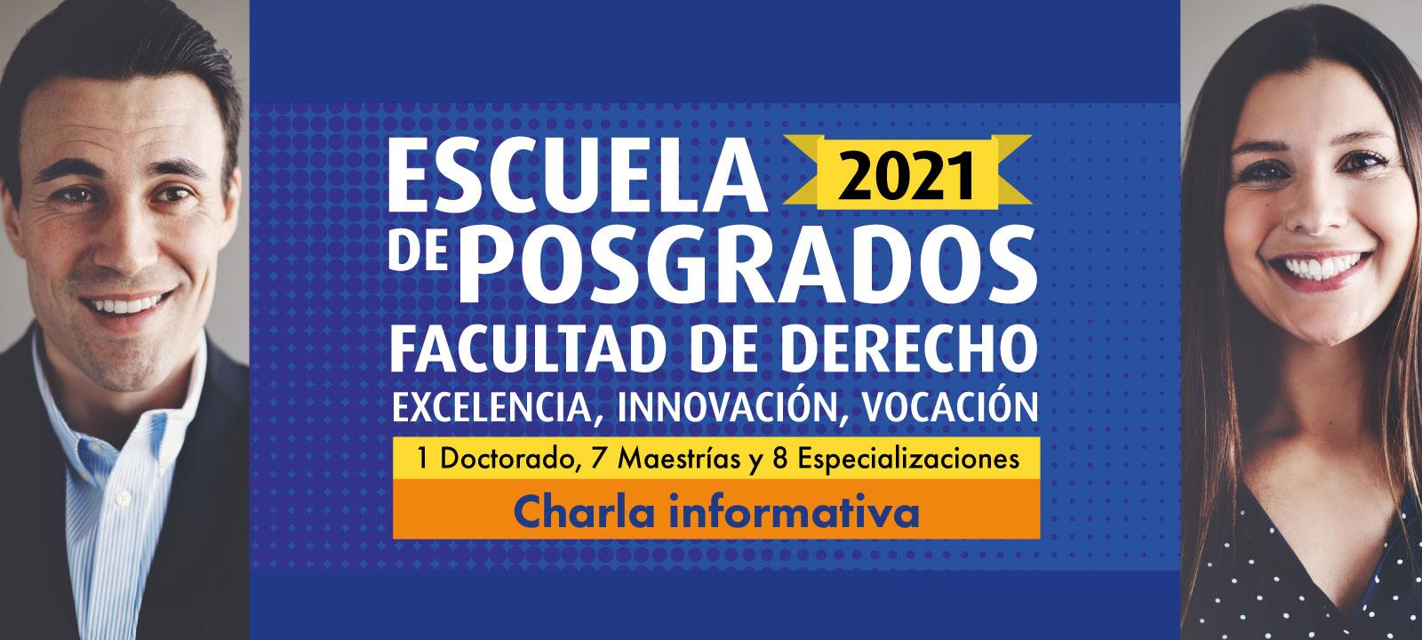 Charla informativa virtual de la Escuela de Posgrados de Derecho 2021