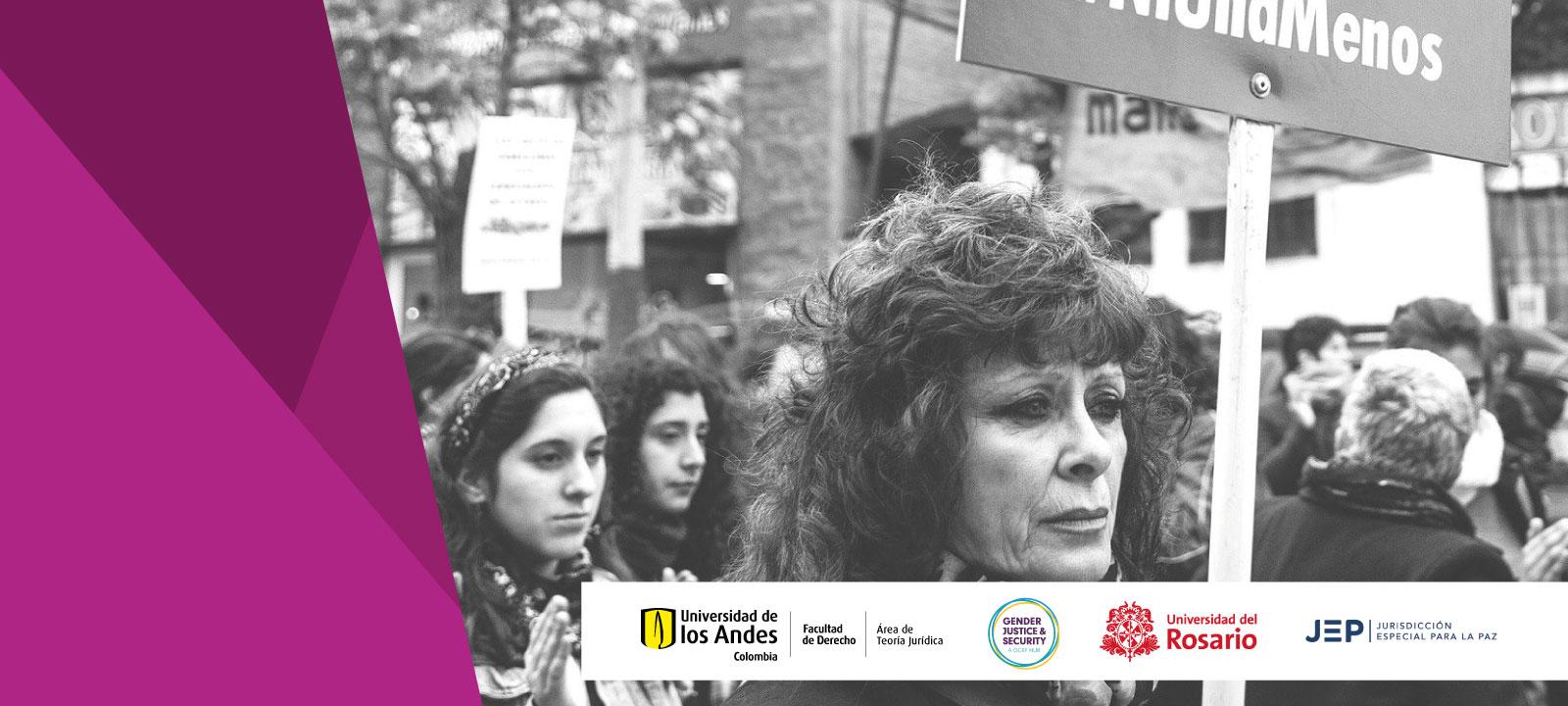 Feminismo y violencia sexual: una conversación sobre las diferencias - Mujeres marchando Conversatorio: La batalla por el derecho al aborto en Colombia
