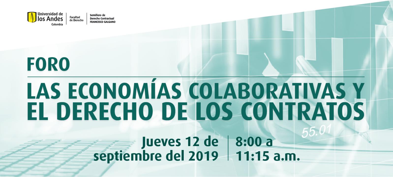 Foro: Las economías colaborativas y el derecho de los contratos