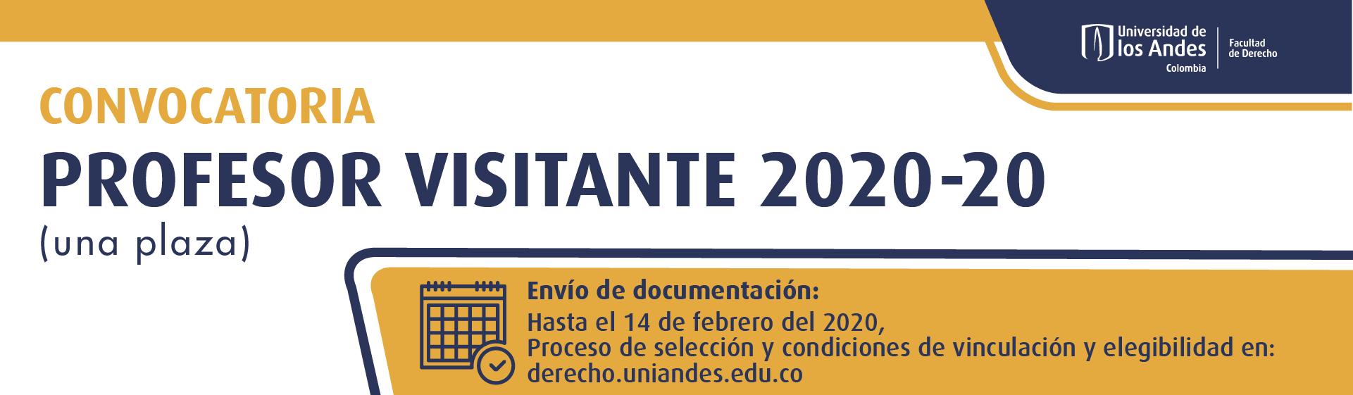 CONVOCATORIA PROFESOR VISITANTE 2020-20