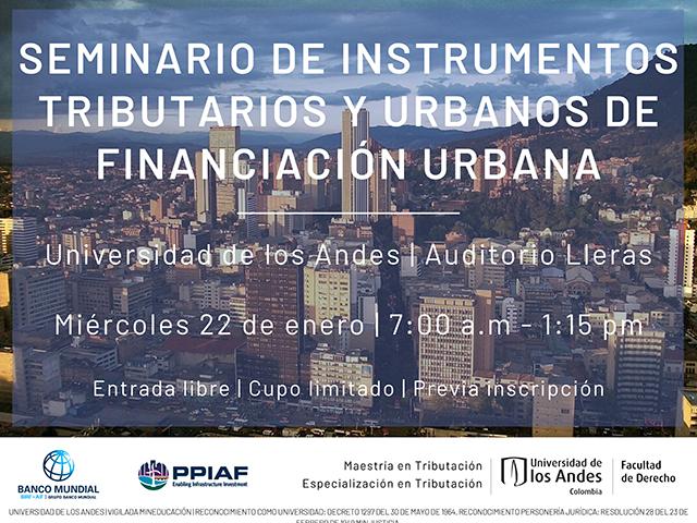 Seminario de instrumentos tributarios y urbanos de financiación urbana