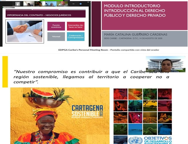 Bienvenida a estudiantes de la Esp. en Derecho Público en Cartagena
