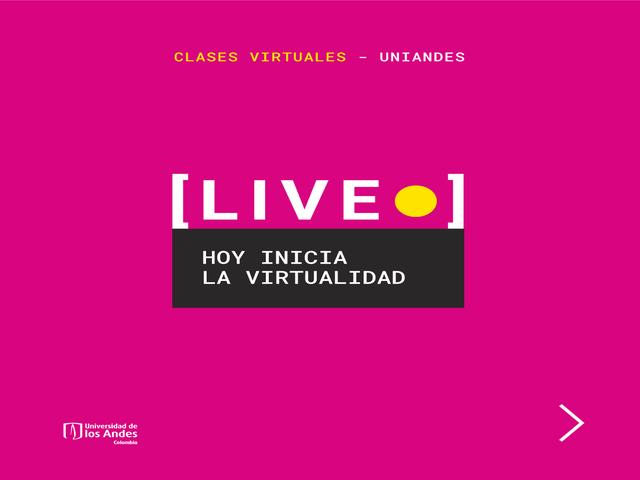 Clases virtuales Uniandes