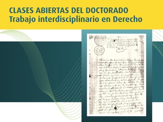 Clase abierta del Doctorado: Derecho e historia