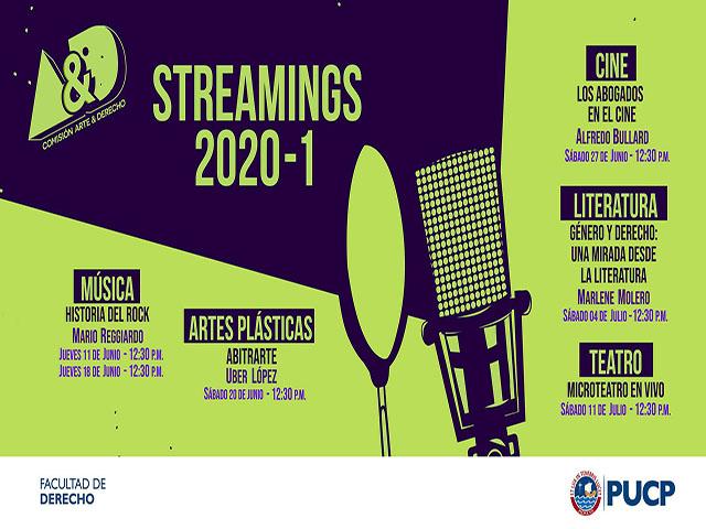 La Comisión Arte & Derecho PUCP te invita a un ciclo de streamings