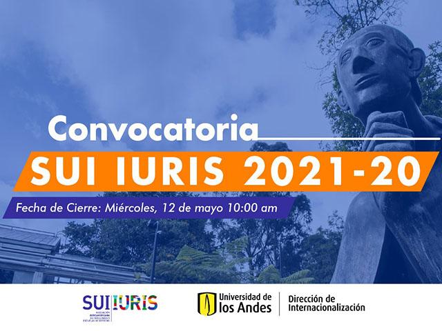 Convocatoria SUI LURIS 2021-20 | Uniandes