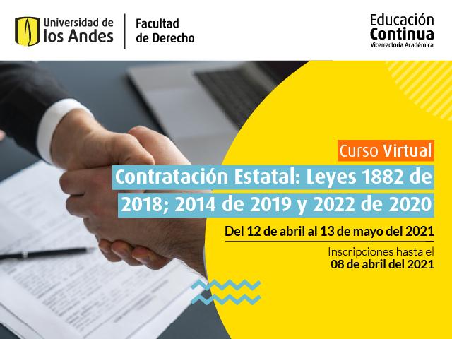 Curso Contratación Estatal | Educación Continua | Derecho | Uniandes