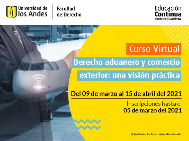 Curso Derecho Aduanero | Educación Continua | Derecho | Uniandes