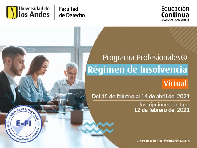 Curso Régimen de Insolvencia - Educación continua - Derecho - Uniandes