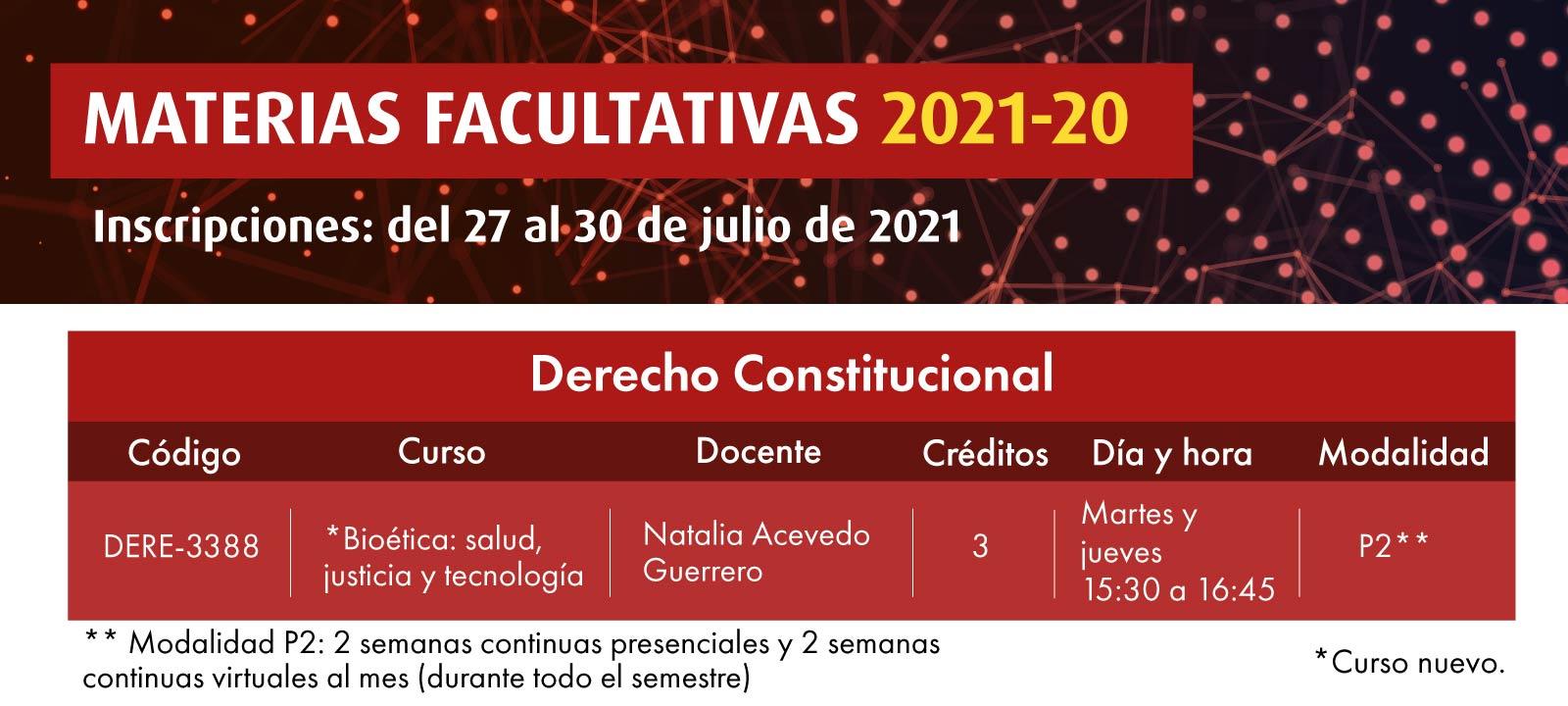 Facultativa 2021-20: Bioética: salud, justicia y tecnología | Derecho | Uniandes