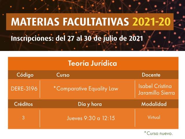Facultativa: Comparative Equality Law | Derecho | Uniandes