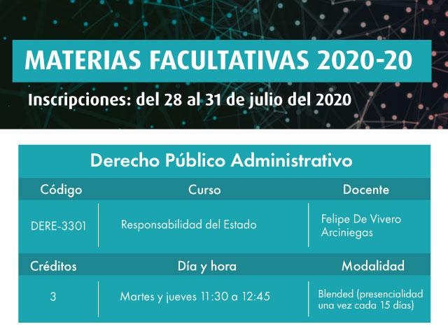 Facultativa 2020-20: Responsabilidad del Estado