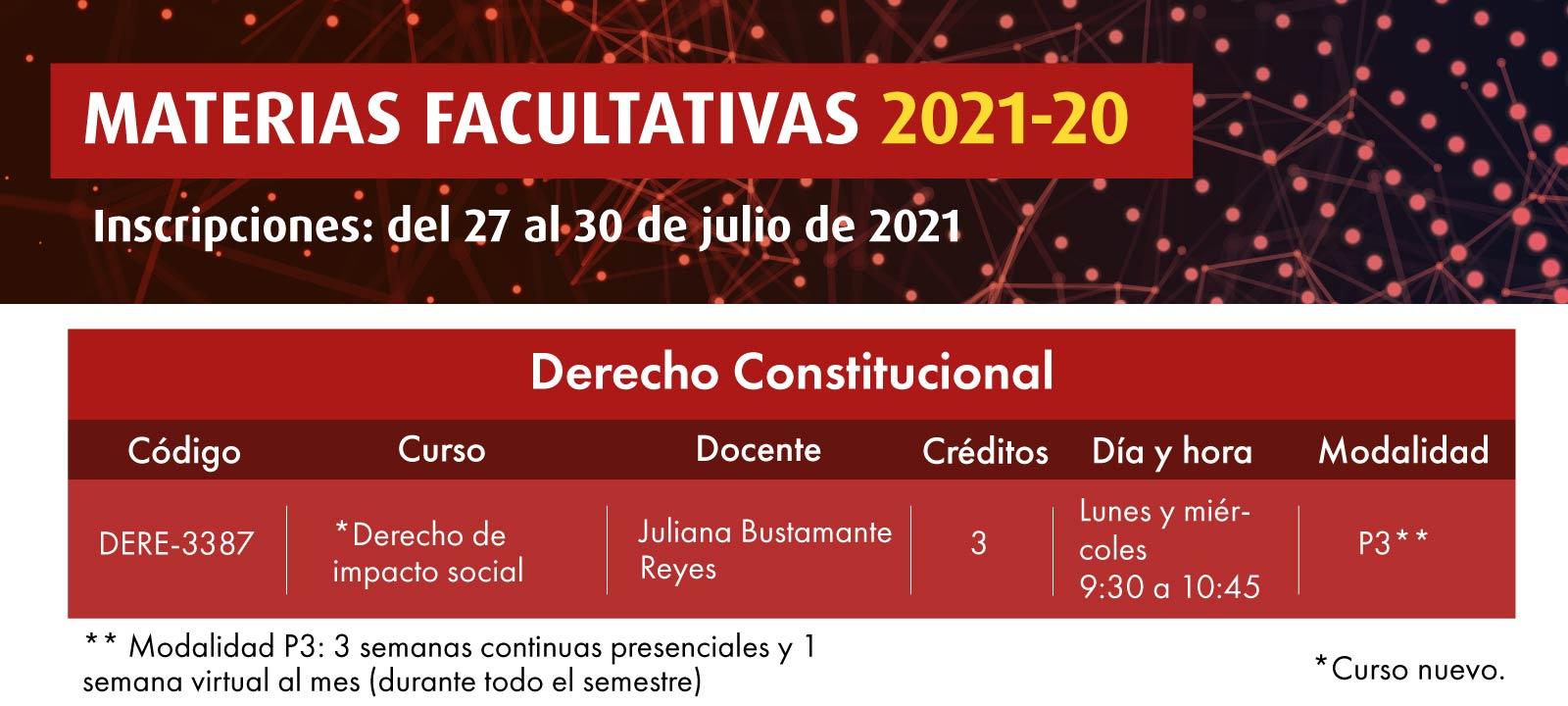 Facultativa 2021-20: Derecho de impacto social | Derecho | Uniandes