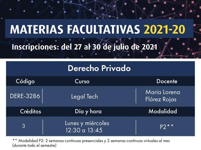 Facultativa 2021-20: Legal Tech | Derecho | Uniandes