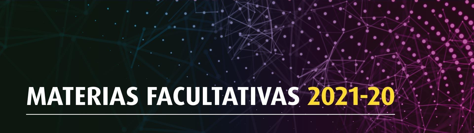 Materias Facultativas 2021-20 | Derecho | Uniandes