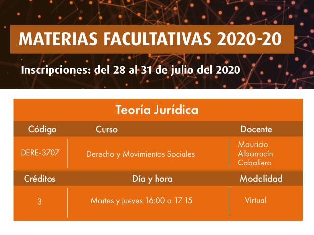 Facultativa 2020-20: Derecho y Movimientos Sociales