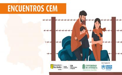 Tercer Encuentro del Centro de Estudios en Migración (CEM) de la Facultad de Derecho de la Universidad de los Andes | Protección internacional en Colombia y Estatuto Temporal de Protección – Dibujo de familia migrante