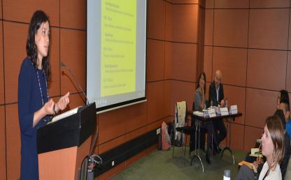 Lanzamiento del Centro de Estudios en Migración (CEM) de la Facultad de Derecho de la Universidad de los Andes. Auditorio C del Edificio Mario Laserna. En conferencia la profesora Gracy Pelacani.