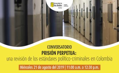 Conversatorio Prisión perpetua: una revisión de los estándares político-criminales en Colombia. Imagen de un corredor con celdas.