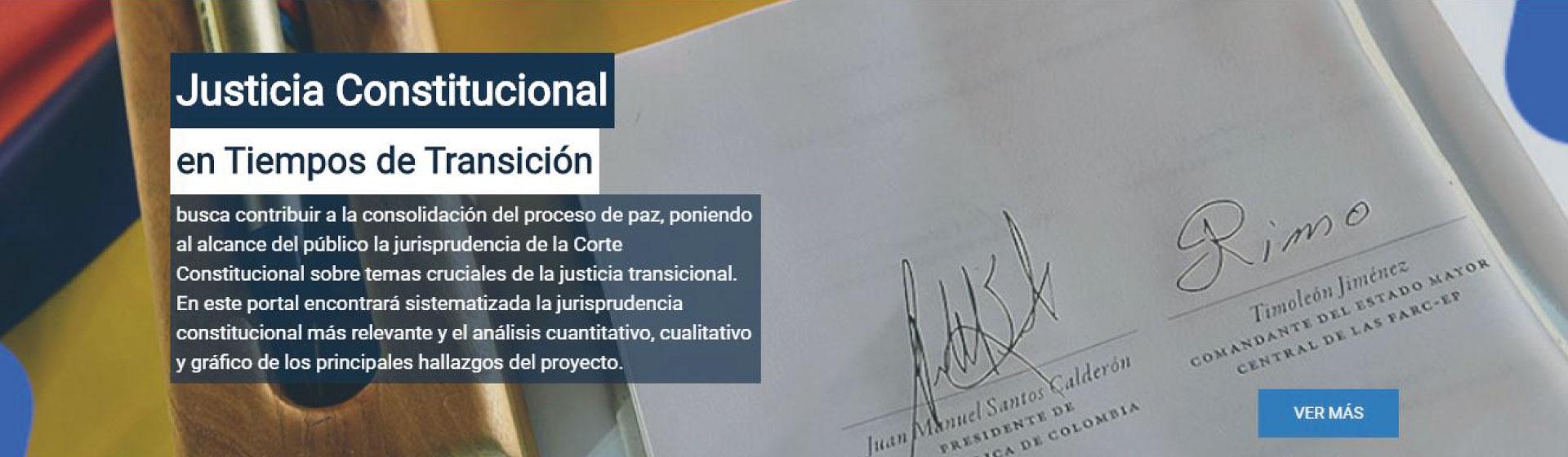 Justicia constitucional en tiempos de transición